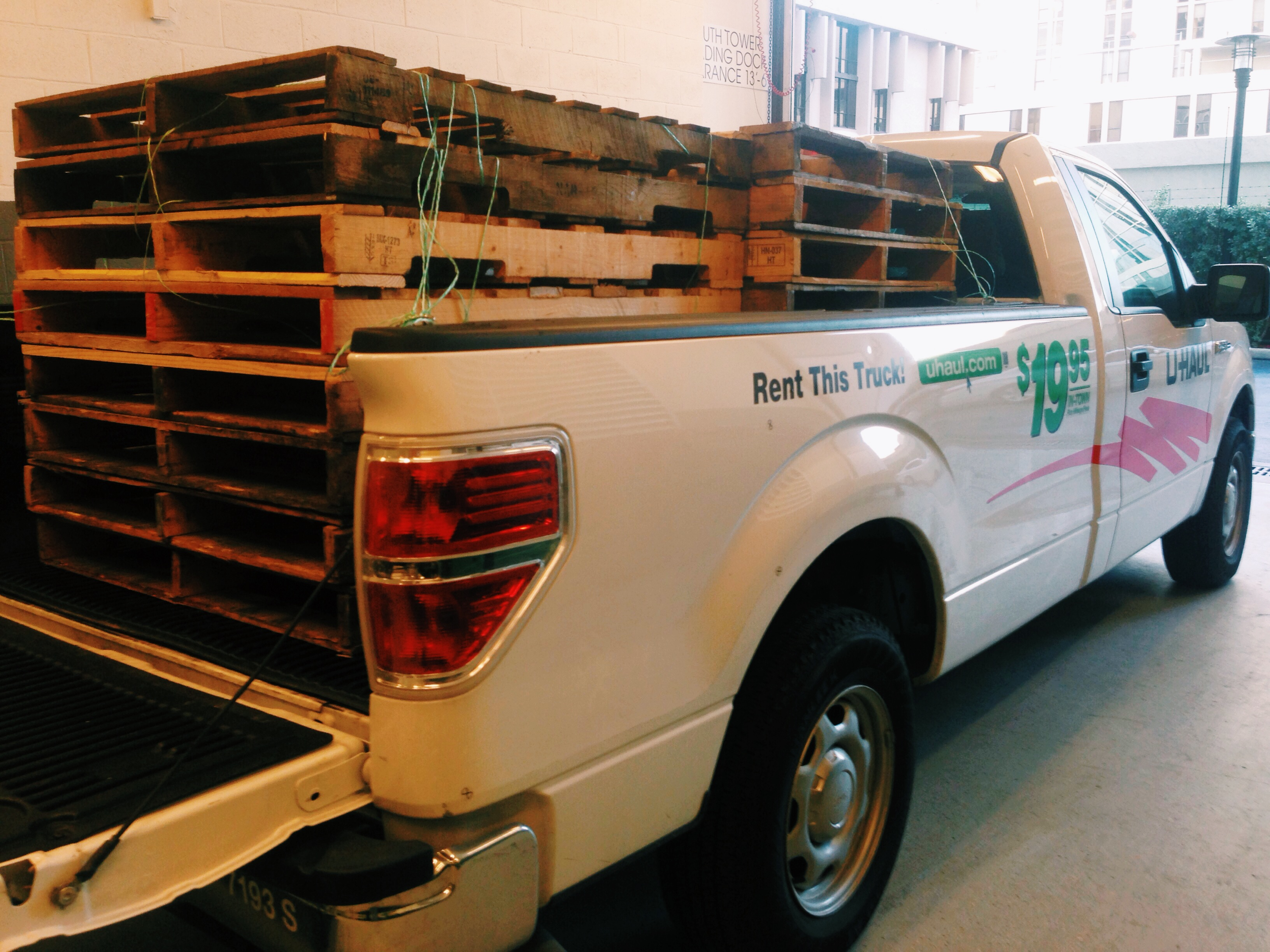 how to make a bed frame out of pallets