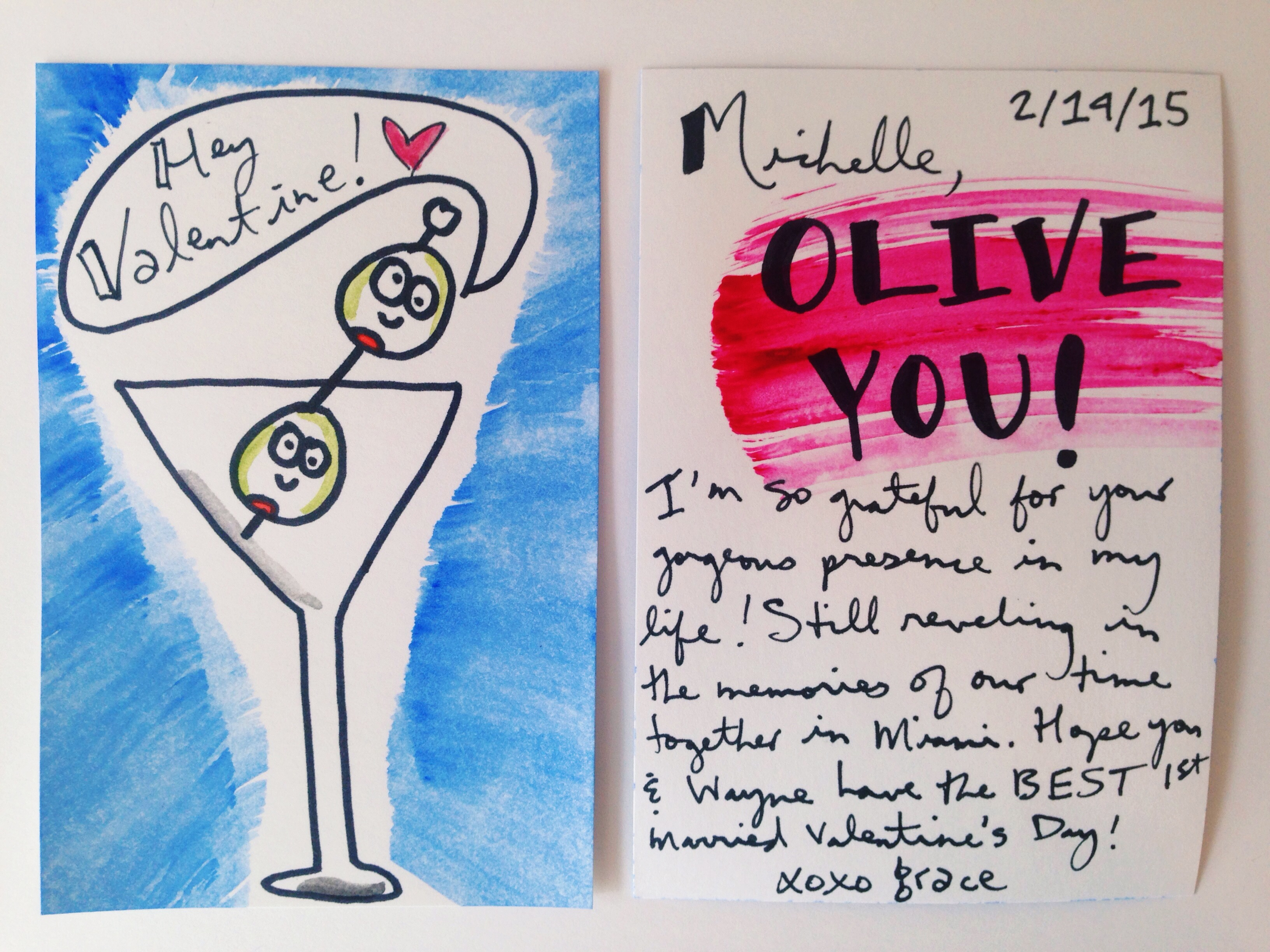 Homemade Watercolor Valentines Your Biggest Fan Grace